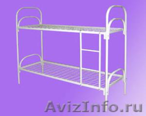 кровати двухъярусные, кровати одноярусные для армий, кровати металлические оптом - Изображение #2, Объявление #696176