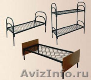 кровати двухъярусные с деревянными спинками, кровати одноярусные металлические - Изображение #1, Объявление #700355